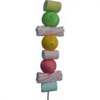 brochette gourmande guimauves colorées 59g x 15