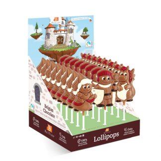SUCETTE LOLLIPOPS CHOCOLAT LANCELOT 35g x 24