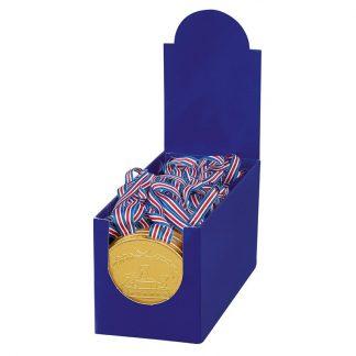 Médaille en chocolat au lait ruban bleu blanc rouge 20g x42