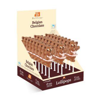 SUCETTE LOLLIPOPS CHOCOLAT CHAT MINOU 30g x 24