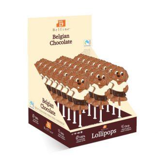 SUCETTE LOLLIPOPS CHOCOLAT CHIEN FILOU 30g x 24