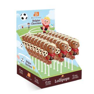 SUCETTE LOLLIPOPS CHOCOLAT FOOTBALLEUR 35g x 24