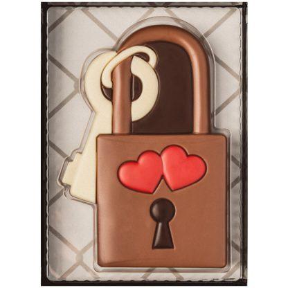 cadenas cœur chocolat lait