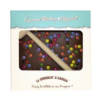 TABLETTE A CASSER CHOCOLAT PASTILLES DE COULEUR 300g