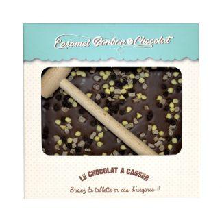 TABLETTE CASSER CHOCOLAT PÉPITES CARAMEL DROPS CHOCO