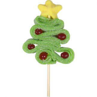 Brochette Sapin de Noël bonbons gélifiés et de confiseries acidulées 60g (1099)