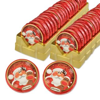 Palet garni de chocolats Noël - Les petits cadeaux de table x40 (7631)