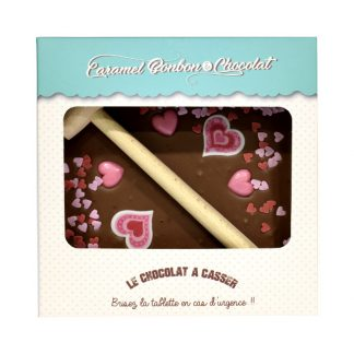 TABLETTE A CASSER CHOCOLAT COEUR 300g x4