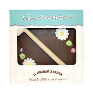 TABLETTE A CASSER CHOCOLAT FLEUR 300g x4