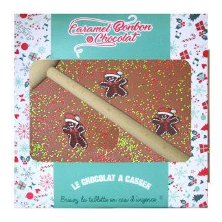 CBC067 Tablette à casser chocolat, Bonhomme en pain d'épices en sucre, 300gx4