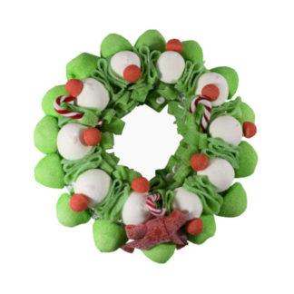 Couronne de Noël en guimauves et confiseries gélifiées, 490g x3