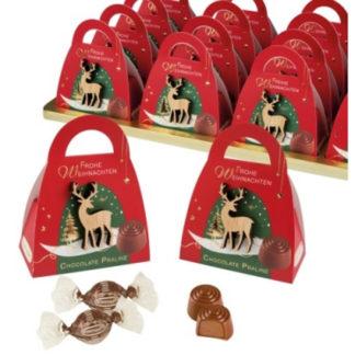 Étui garnis de bonbons en chocolat- Les petits cadeaux de table x16