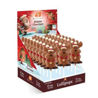 Sucette lollipops chocolat Élan, chocolat Belfine 35g x24 (L48KMD)