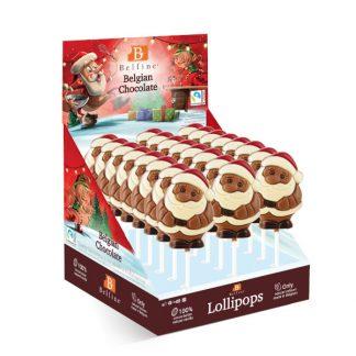 Sucette lollipops chocolat Père Noël Belfine 35gx24 (L76KMD)