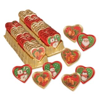 Coeur en chocolat Noël - Les petits cadeaux de table (6055)