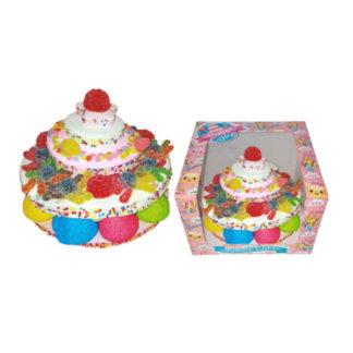 Gâteau de bonbons en étages rond, Guimauves et confiseries gélifiées