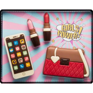Coffret girl power chocolat (65013) ( insolite, sac à main -smartphone -rouge à lèvres (65013)