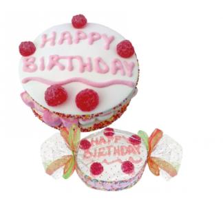 Gâteau Happy Birthday composé de bonbons guimauve 300g