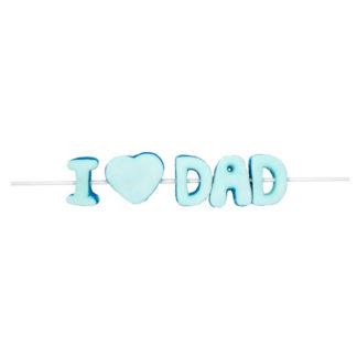 Brochette guimauve I LOVE DAD 40g x 25 fête des pères (CBC140)
